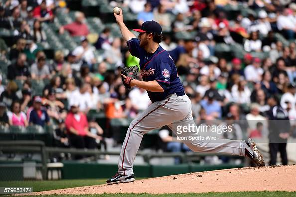 Minnesota Twins starting pitcher Phil Hughes working in a MLB game between the Minnesota Twins and the Chicago White Sox at U S Cellular Field...