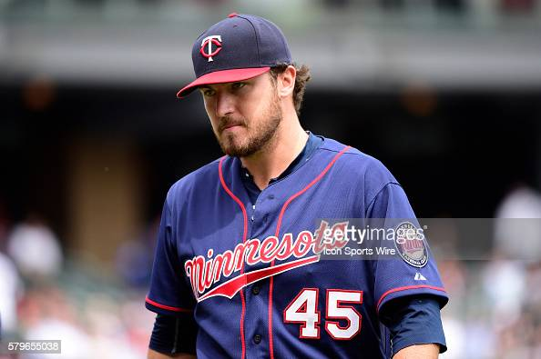 Twins pitcher Phil Hughes in a MLB game between the Minnesota Twins and the Chicago White Sox at U S Cellular Field Chicago Il White Sox over the...