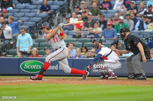 Washington Nationals First base Ryan Zimmerman during a regular season game between the Washington Nationals at Atlanta Braves game at Turner Field...