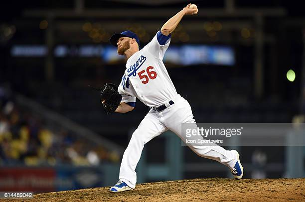 Los Angeles Dodgers Pitcher JP Howell [4933] during an MLB game between the San Diego Padres and the Los Angeles Dodgers at Dodger Stadium in Los...