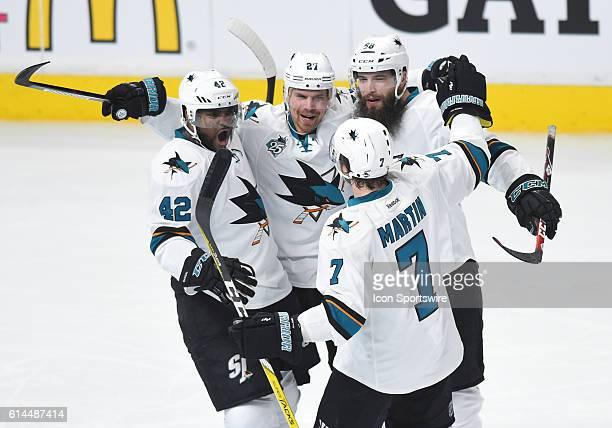 San Jose Sharks Right Wing Joel Ward [2737] San Jose Sharks Left Wing Joonas Donskoi [7845] San Jose Sharks Defenseman Brent Burns [3491] and San...