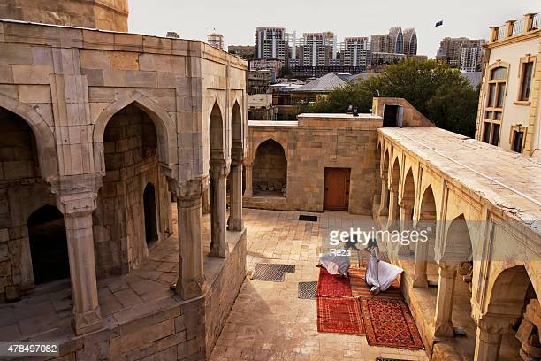 April 24 Shirvanshahs Palace Old City Baku Azerbaijan Dancers from the Azerbaijan State Academic Opera and Ballet Theatre perform a dance inside the...