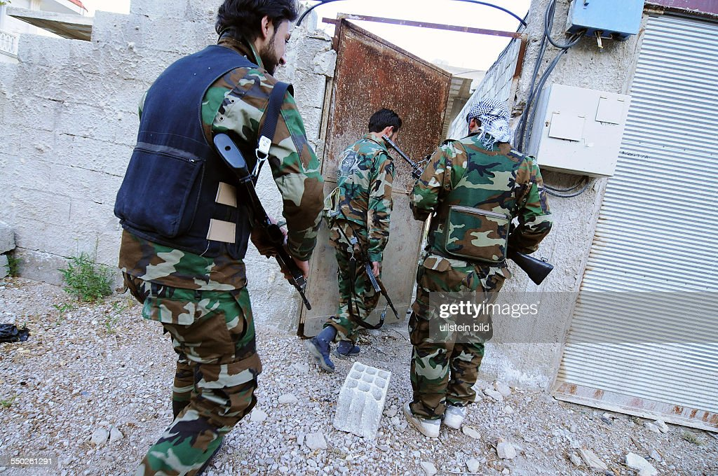April 27 Yabrud Rif Dimashq Syria A Katiba is returning from a patrol near Yabrud This regiment is the most famous brigade in Syria fighting against...
