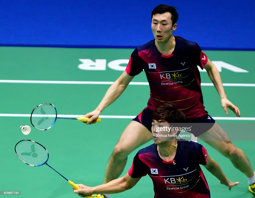 WUHAN April 28 2016 Lee Yong Dae front and Yoo Yeon Seong