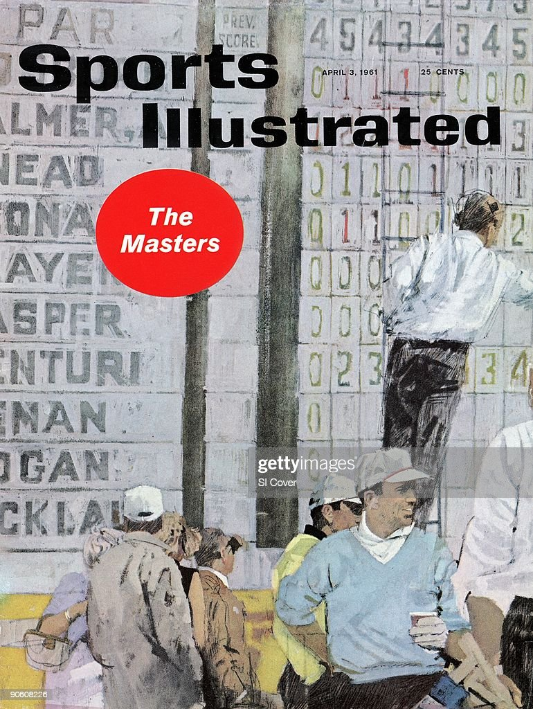 April 3, 1961 Sports Illustrated Cover. Golf: Masters Preview. Illustration of leader board, painting by Art Department. New York, NY 1/1/1961--4/3/1961