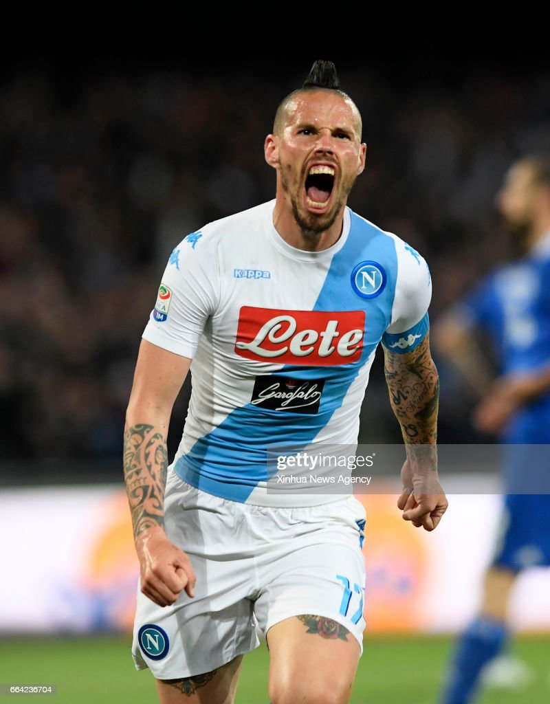 NAPOLI April 3 2017 Napoli s Marek Hamsik celebrates after he