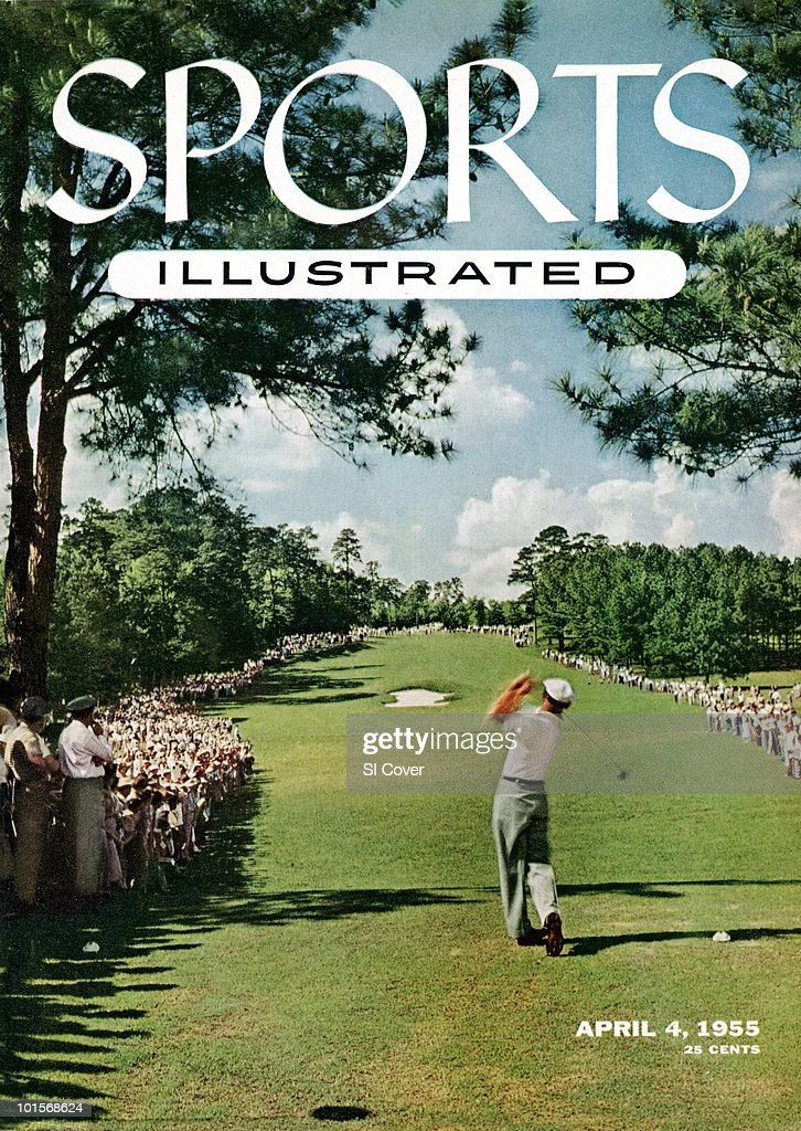 The Masters: Rear view of Ben Hogan in action, drive from tee on No 8 during Sunday playoff vs Sam Snead at Augusta National. Augusta, GA 4/11/1954
