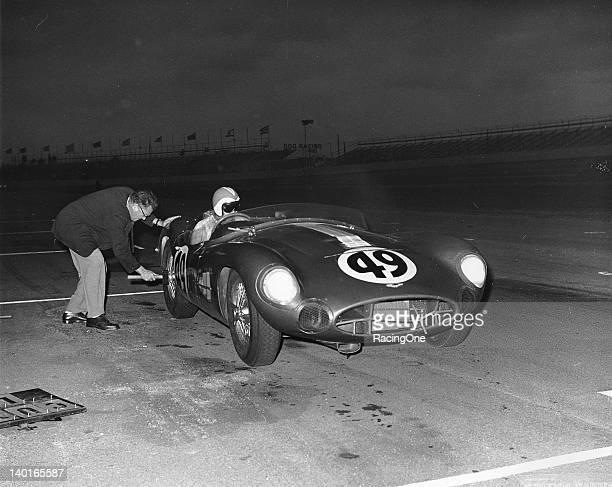 George Constantine drove this Aston Martin at Daytona International Speedway in the 1000km of Daytona USAC Road Racing Championship race A broken...