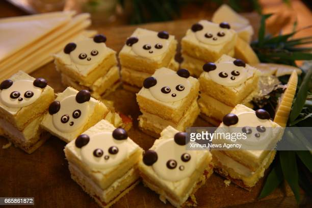 RHENEN April 5 2017 Photo taken on April 5 2017 shows 'panda cakes' in a pastry house of Rhenen the Netherlands The 'Pandasia' at Ouwehands Zoo in...