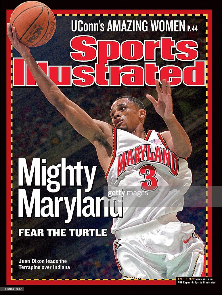 NCAA Final Four: Maryland <a gi-track='captionPersonalityLinkClicked' href=/galleries/search?phrase=Juan+Dixon&family=editorial&specificpeople=202987 ng-click='$event.stopPropagation()'>Juan Dixon</a> (3) in action, layup vs Indiana during 1st half at Georgia Dome.Atlanta, GA 4/1/2002CREDIT: David E. Klutho