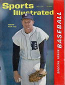 April 9 1962 Sports Illustrated Cover Baseball Detroit Tigers Frank Lary on mound during spring training FL 3/15/1962