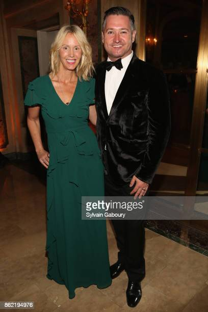 April Blackadder and Chris Blackadder attend World Monuments Fund 2017 Hadrian Gala honoring Frank Stella and Deborah Lehr on October 16 2017 in New...