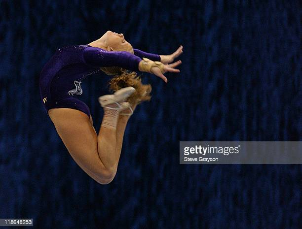 April Burkholder of LSU in action at the 2004 NCAA Championship Individual Finals at Pauley Pavilion in Westwood California April 17