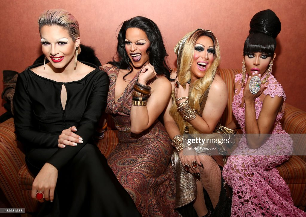 April Carrión, Rochelle Mon Cheri, Zahara Montiere, and Queen Bee Ho attend the 'Mala Mala' Premiere during the 2014 Tribeca Film Festival at Chelsea Bow Tie Cinemas on April 19, 2014 in New York City.