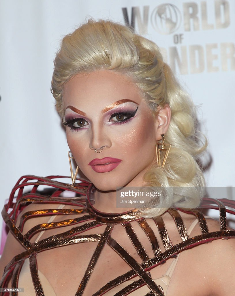 April Carrion attends 'RuPaul's Drag Race' Season 6 Premiere Party at Stage 48 on February 19, 2014 in New York City.