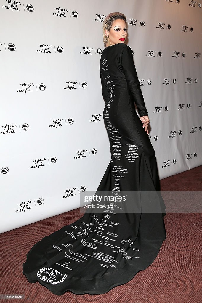 April Carrion attends the 'Mala Mala' Premiere during the 2014 Tribeca Film Festival at Chelsea Bow Tie Cinemas on April 19, 2014 in New York City.