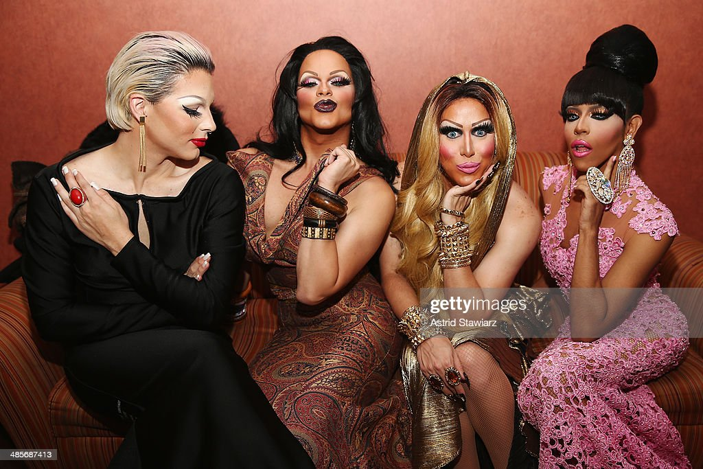 April Carrion, Rochelle Mon Cheri, Zahara Montiere, and Queen Bee Ho attend the 'Mala Mala' Premiere during the 2014 Tribeca Film Festival at Chelsea Bow Tie Cinemas on April 19, 2014 in New York City.