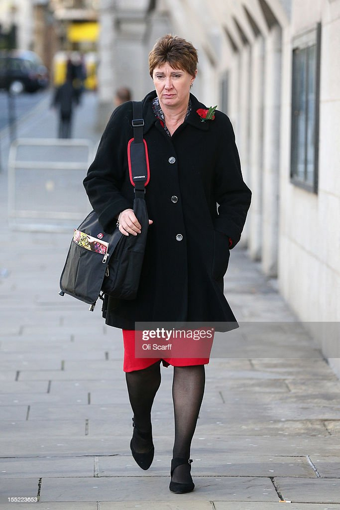 April Casburn, the former head of Scotland Yard's National Terrorist Financial Investigation Unit, leaves the Old Bailey after appearing before the court accused of misconduct in a public office and breaching the Official Secrets Act on November 2, 2012 in London, England. Ms Casburn has pleaded not guilty to charges that she offered information to the now defunct News of the World newspaper concerning Scotland Yard's investigation into whether the inquiry in to the practices of phone hacking should be reopened.