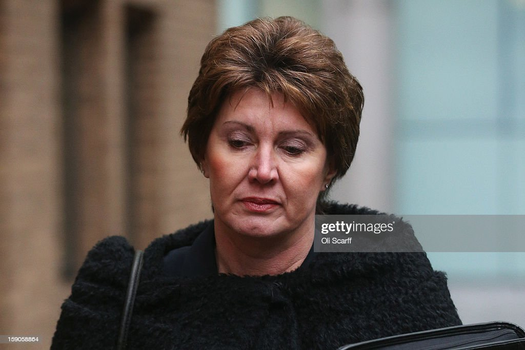 April Casburn, the former head of Scotland Yard's National Terrorist Financial Investigation Unit, arrives at Southwark Crown Court to stand trail accused of misconduct in a public office and breaching the Official Secrets Act on January 7, 2013 in London, England. Ms Casburn has pleaded not guilty to charges that she offered information to the now defunct News of the World newspaper concerning Scotland Yard's investigation into whether the inquiry in to the practices of phone hacking should be reopened.