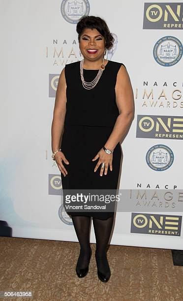 April D Ryan attends the 47th NAACP Image Awards Nominees' luncheon at The Beverly Hilton Hotel on January 23 2016 in Beverly Hills California