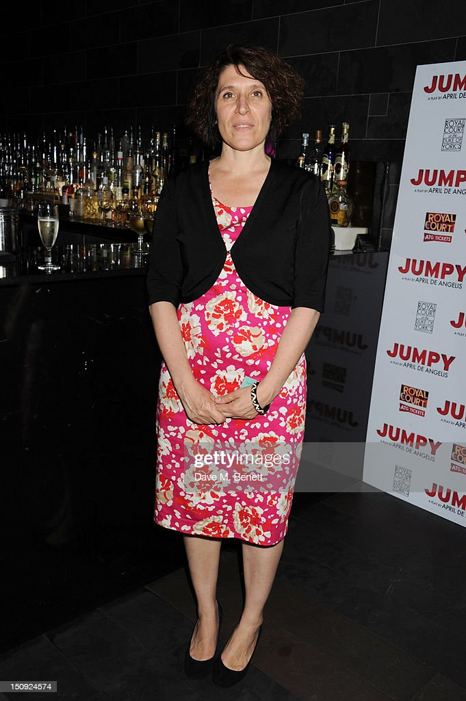 April De Angelis attends the after party for the first night of the Royal Court transfer of their production of 'Jumpy' to the Duke of York Theatre...
