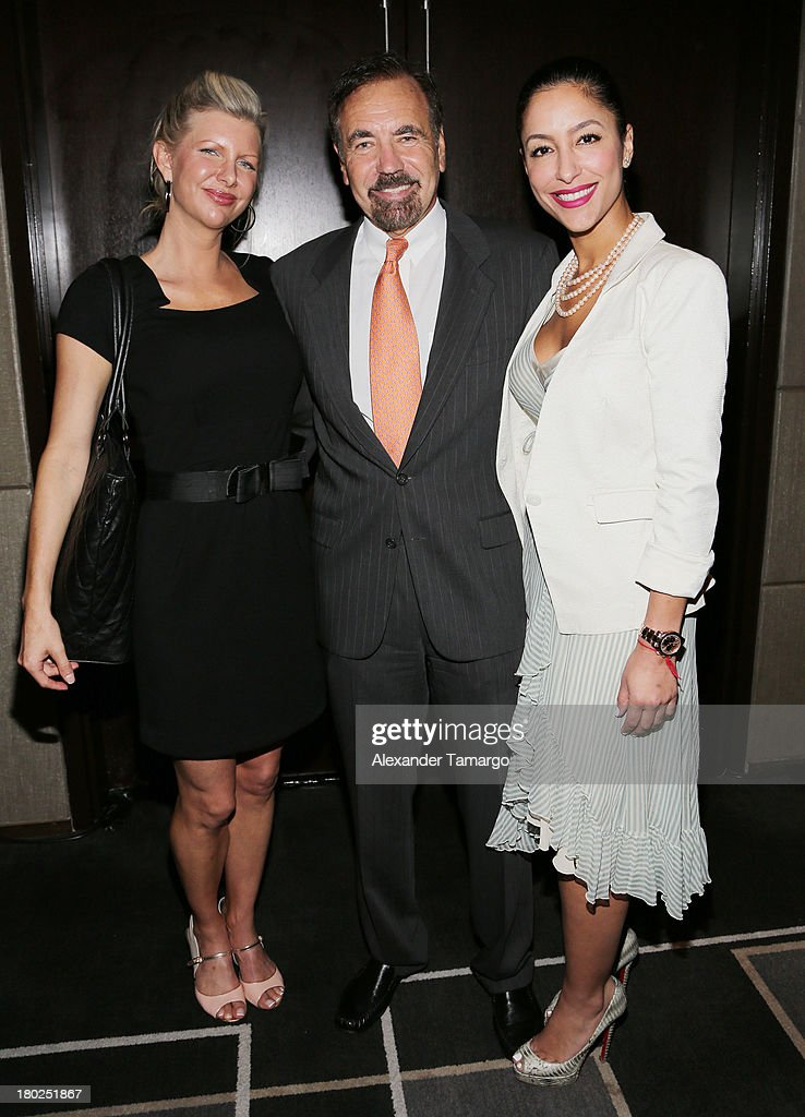 April Donelson, Jorge Perez and Violet Camacho attend the Haute Magazine Real Estate Summit at the W Hotel South Beach on September 10, 2013 in Miami, Florida.