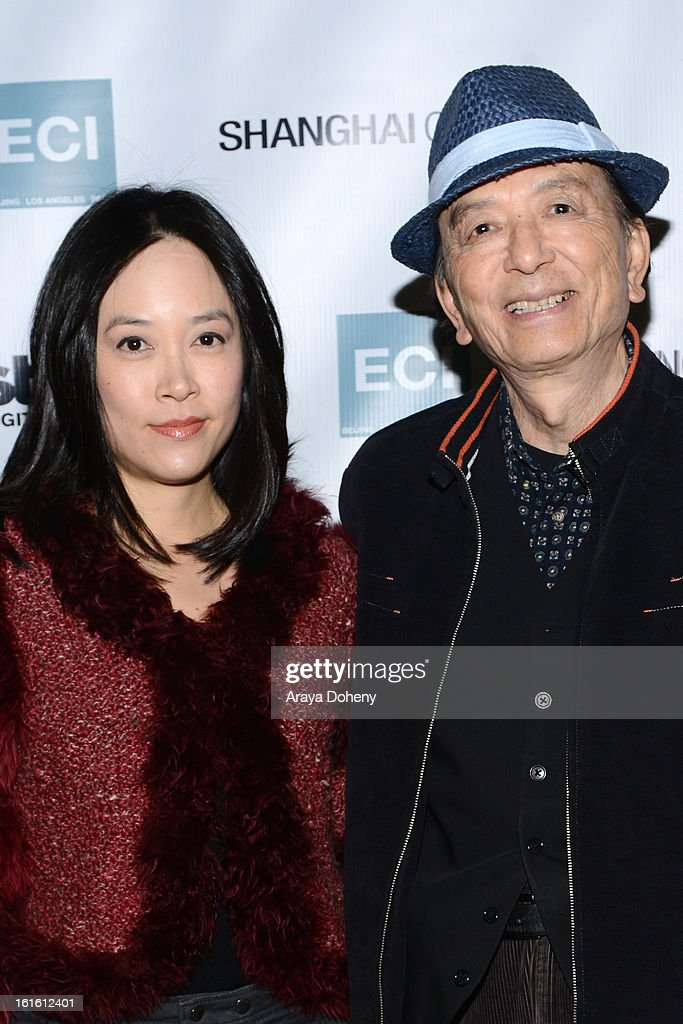 April Hong and James Hong attend the 'Shanghai Calling' Los Angeles premiere at TCL Chinese Theatre on February 12 2013 in Hollywood California