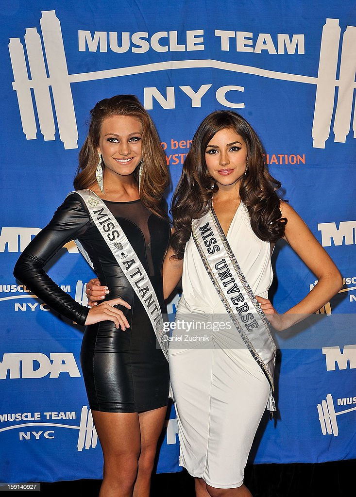 April Maroshick and <a gi-track='captionPersonalityLinkClicked' href=/galleries/search?phrase=Olivia+Culpo&family=editorial&specificpeople=9194131 ng-click='$event.stopPropagation()'>Olivia Culpo</a> attend the 16th Annual MDA Muscle Team Gala and Benefit Auction at Pier 60 on January 8, 2013 in New York City.