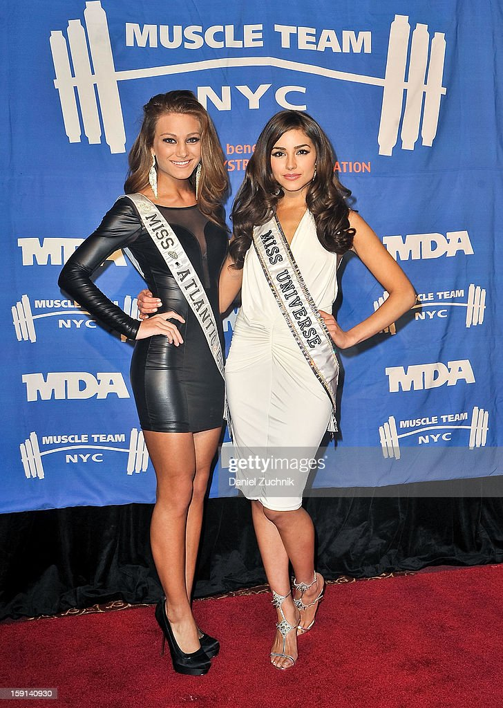 April Maroshick and Olivia Culpo attend the 16th Annual MDA Muscle Team Gala and Benefit Auction at Pier 60 on January 8, 2013 in New York City.