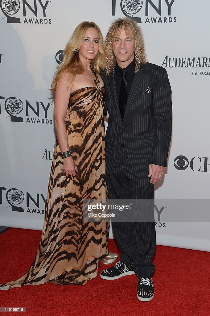 April McLean and <a gi-track='captionPersonalityLinkClicked' href=/galleries/search?phrase=David+Bryan&family=editorial&specificpeople=211281 ng-click='$event.stopPropagation()'>David Bryan</a> attend the 66th Annual Tony Awards at The Beacon Theatre on June 10, 2012 in New York City.