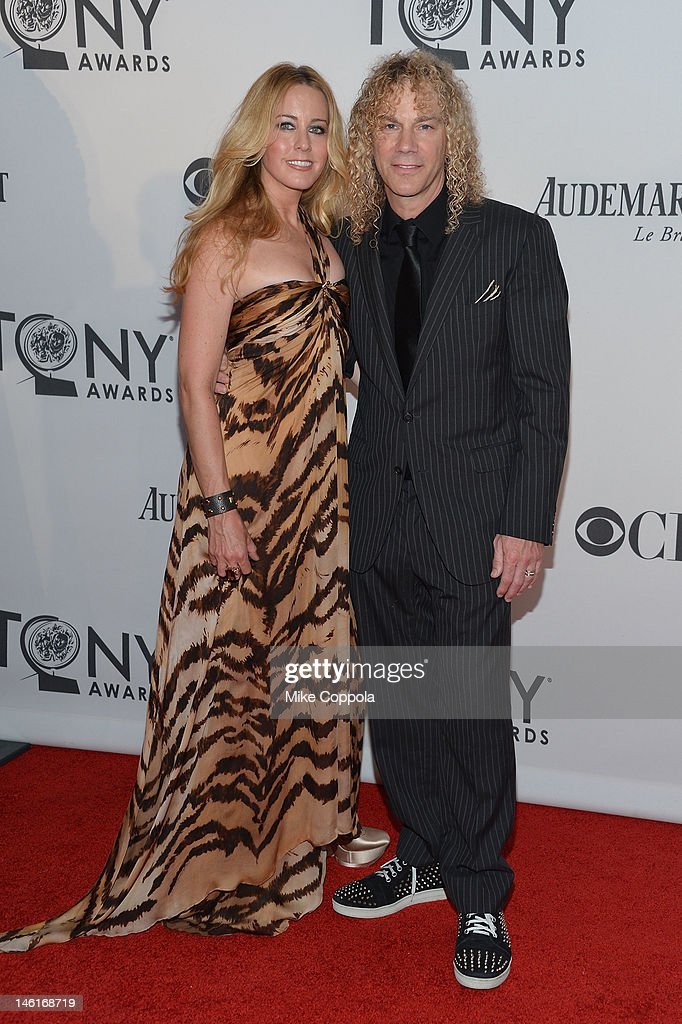 April McLean and David Bryan attend the 66th Annual Tony Awards at The Beacon Theatre on June 10, 2012 in New York City.