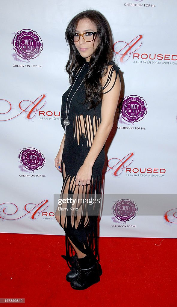 April O'Neil attends the 'Aroused' - Los Angeles Premiere on May 1, 2013 at the Landmark Nuart Theatre in Los Angeles, California.