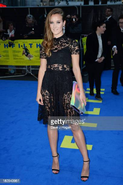 April Pearson attends the London premiere of 'Filth' at The Odeon Leicester Square on September 30 2013 in London England