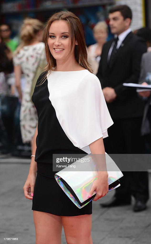 April Pearson attends the UK premiere of 'The Wolverine' at Empire Leicester Square on July 16, 2013 in London, England.