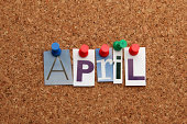 April pinned on noticeboard