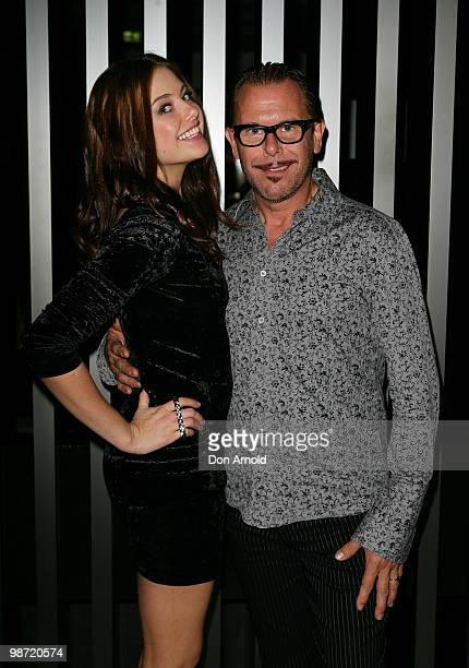 April Rose Pengilly and Kirk Pengilly pose at the after show party following the 'MTV Classic The Launch' music event at the Crown Metropol on April...