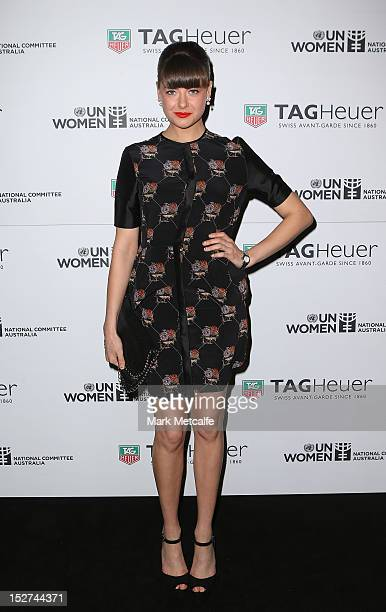 April Rose Pengilly arrives at the TAG Heuer Link Lady Launch on September 25 2012 in Sydney Australia