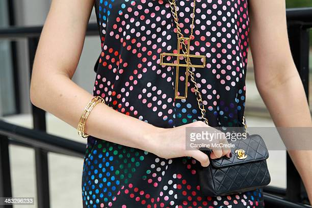 April Rose Pengilly wears an outfit by Ginger Smart and Ray Ban sun glasses at the Ginger Smart show at MercedesBenz Fashion Week Australia 2014 at...
