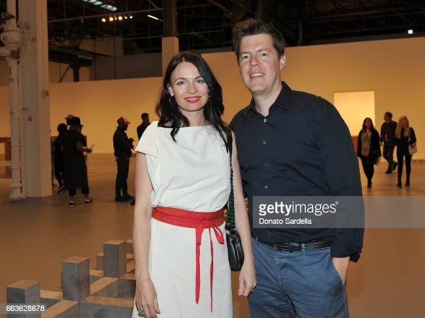 April Street and Philipp Kaiser attend MOCA's Leadership Circle and Members' Opening of 'Carl Andre Sculpture as Place 19582010' and 'Arthur Jafa...