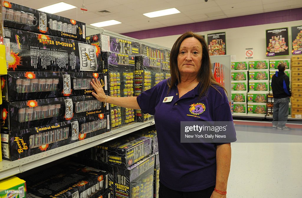April Walton, manager of Phantom Fireworks store in Seabrook, New Hampshire, where Tamerlan Tsarnaev used a buy one, get one free coupon to buy two sets of $199.99 set of 'Lock and Load' mortars. Authorities say the 3 pounds of black power contained in the fireworks is enough for one of the bombs they made from pressure cookers.