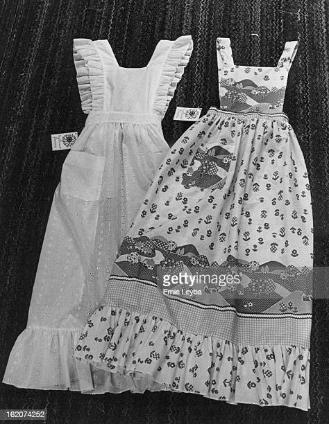 DEC 8 1976 DEC 14 1976 DEC 15 1976 Aprons Pretty Enough For A Hoedown The designs from Beverly Lerner's Lakewood basement include left a beruffled...