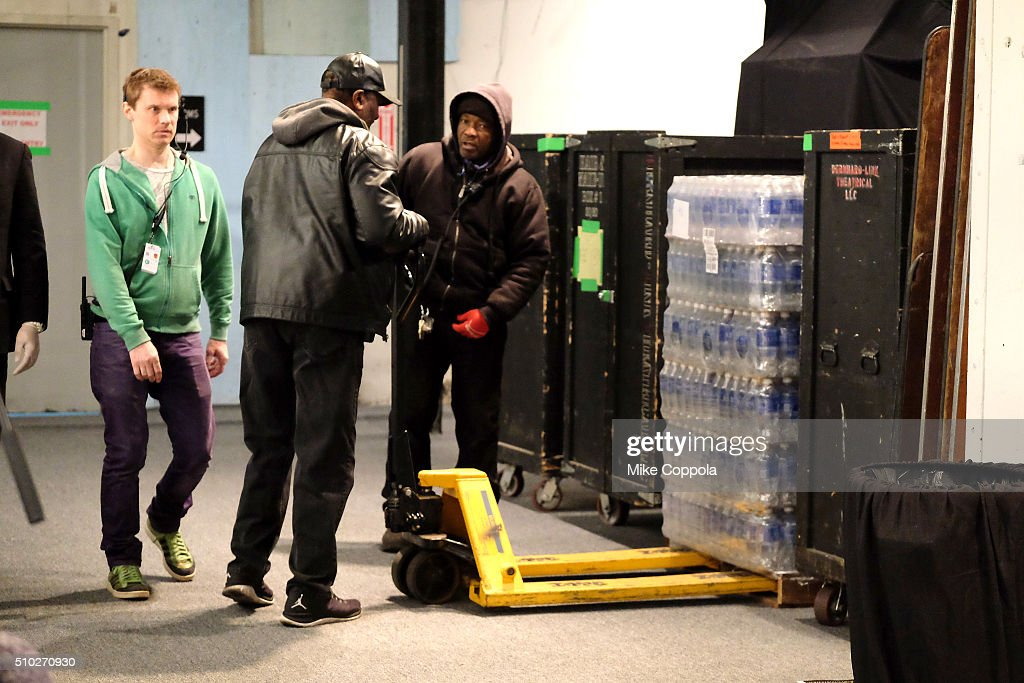 Aquafina water on display during day 4 of New York Fashion Week: The Shows at XX on February 14, 2016 in New York City.
