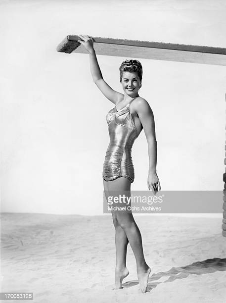Aquatic film star Esther Williams poses for a portrait for the film 'On An Island With You' in 1948 in Los Angeles California