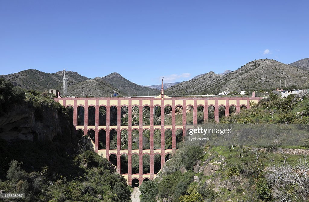 Aqueduct of Nerja, Spain : Bildbanksbilder