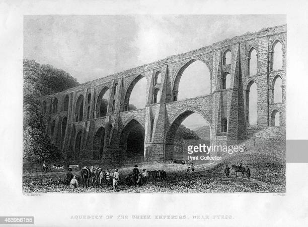 'Aqueduct of the Greek Emperors near Pyrgo' Turkey 1886 Illustration from Cyclopaedia of Useful Arts Mechanical and Chemical Manufactures Mining and...
