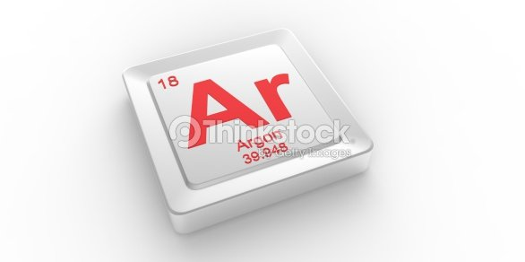 Ar Symbol 18 Material For Argon Chemical Element Stock Photo