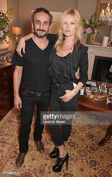 Ara Vartanian and Kate Moss attend a cocktail reception to preview Ara Vartanian's Unique Jewellery Collection hosted by Ara Vartanian and Fran...
