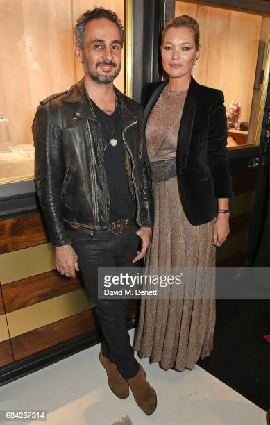 Ara Vartanian and Kate Moss attend the launch of the KATE MOSS X ARA VARTANIAN collection on May 17 2017 in London England