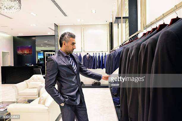 Arab business man shopping