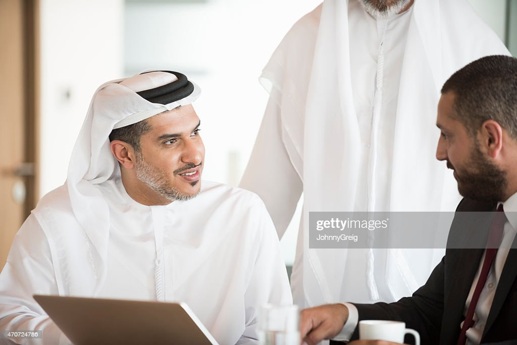 Arab businessman in office business meeting
